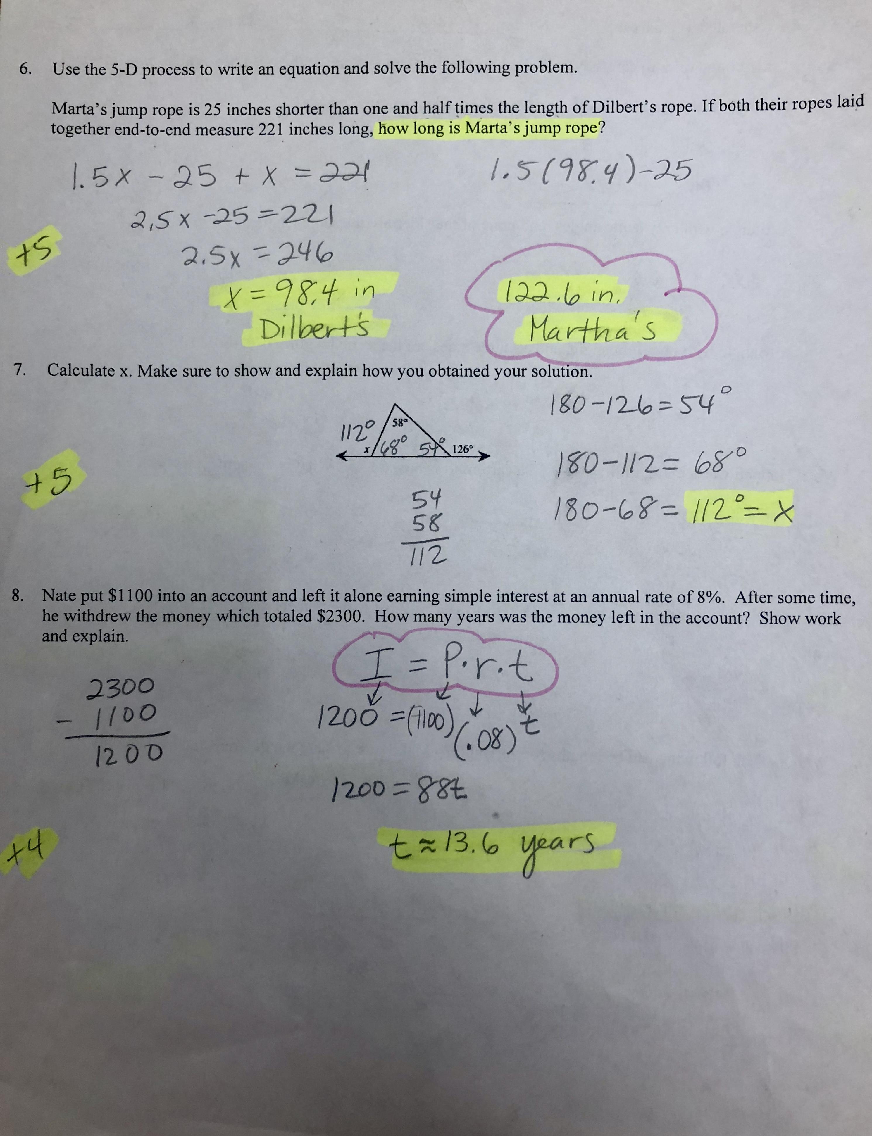 Fantastic Solving Work Problems In Algebra Model - Math Worksheets ...